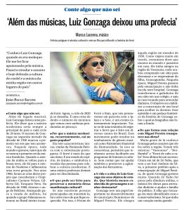 Marcus Lucenna no jornal O Globo