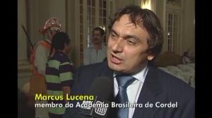 Marcus Lucenna dá entrevista para TV Câmara do Rio