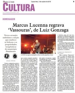 Marcus Lucenna regrava Vassouras de Luiz Gonzaga