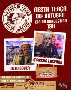 Marcus Lucenna e Beto Souza no Forró Forrado